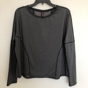 Betsey Johnson performance gray long sleeve S